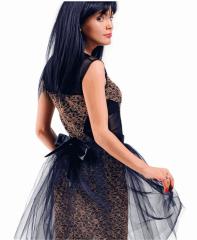 Платье гипюровое для вечеринок (М-12В)