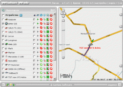 Systems of satellite monitoring for transport
