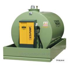 Land TANK FUEL tanks for gas station.