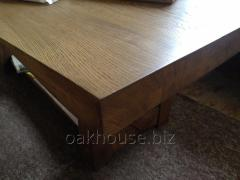 Furniture for the house - a table in the loft of a