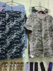 T-shirts are army