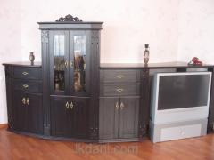 Мебельный гарнитур деревянный из ясеня