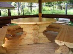 Комплекты мебели из оцилиндрованного бруса