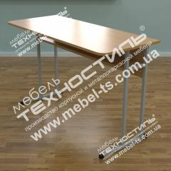Double school school desk with the forward panel