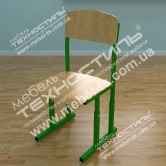 Chair school with adjustment of height