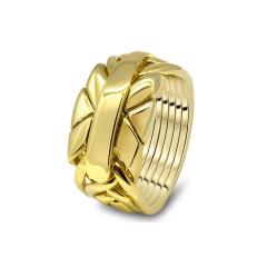 Золотое мужское кольцо головоломка от Wickerring