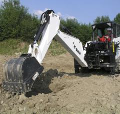 Hinged Bobcat excavator