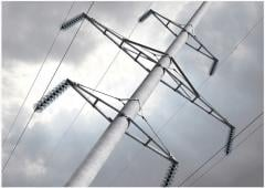 Support of power lines (concrete goods)