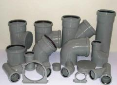 Shaped parts to plastic pipes