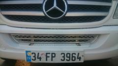 Grid in bumper stainless steel of Mercedes