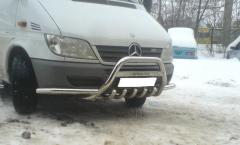 Arch with Mercedes Sprinter's moustaches of