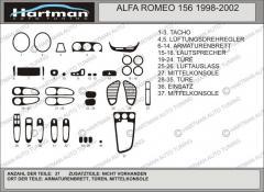 Pad on the Alfa Romeo 156 HartMan panel
