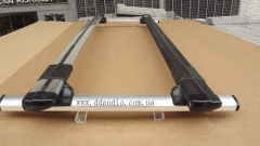 Cross-pieces luggage carrier on the railing of
