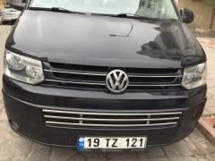 Integral grid in bumper Volkswagen T6 stainless