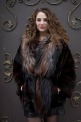 Coat from natural fur of the Finnish silver fox