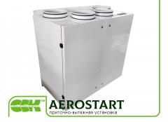La instalación de ventilación AeroStart pritochno-vytyazhnaya. La maquinaria de ventilación