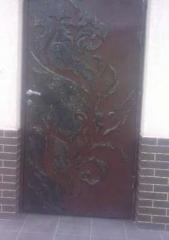 Двери металлические кованые