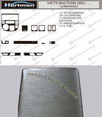 Pad on the panel under T5 Multivan aluminum