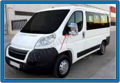 Pad on ABS mirrors Peugeot Boxer chrome