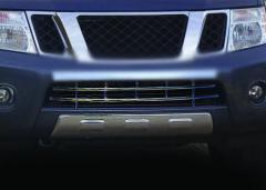 Grid in bumper nerzhv. Nissan Navara
