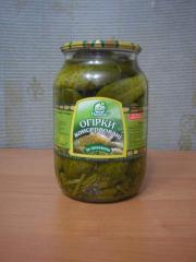 Cucumbers pickled 1l SKO