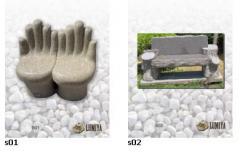 Скамейки гранитные (Каменные скамьи), ПОЛНАЯ