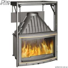 Chimney fire chamber of LAUDEL 700 PANORAMA with a