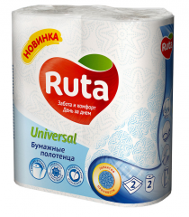Paper towels for kitchen of Ruta Universal 2 rolls
