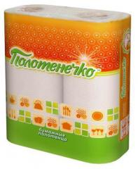 Towel two-layer paper Polotenechko Poland,