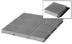 Industrial floor - a concrete parque