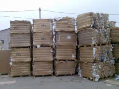 Corrugated cardboard baled MS-5B. Bale size: