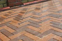 Tile for paths, sidewalks