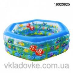 Бассейн надувной 19020625  водный мир