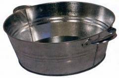 Basin is galvanized round, 13 l
