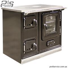 Pig-iron kitchen of INVICTA LA ROYALE black enamel