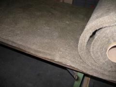 Nonwoven fabrics from basalt thin MagmaWool™ fiber