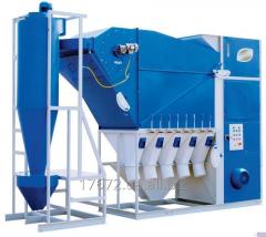 Grain separator of SAD-50 with the cyclone for