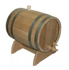 Barrel for wine oak on a support of 5 l