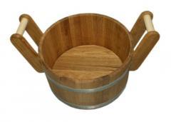 Gang for a bath and a sauna of oak 20 l