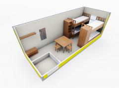 Строительная бытовка Модель ЕВРО 1