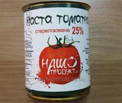 Tomato paste of 25%, can, 0,840kg