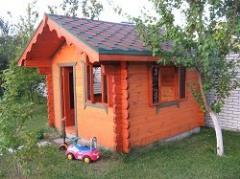 The house wooden of the dry laminated