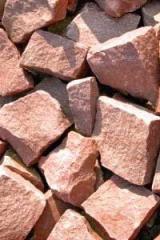 Stone crimson quartzite of 20 kg.