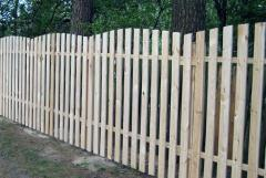 Wooden fences under the order