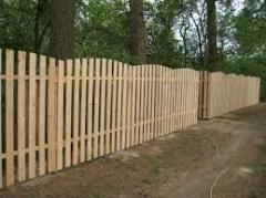 Wooden batten fences in Kharkiv (ready, under the