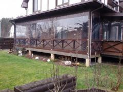 Walls protective of PVC for the house, the dacha,