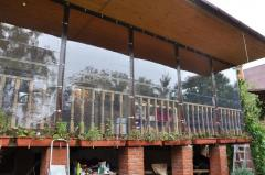Windows from a tkaneplast for a verandah, a