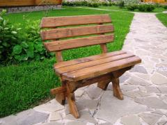Benches from a natural tree a pine, individual