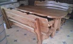 Benches from a natural tree under the order