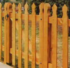 Gates are pine garden, for the house